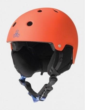 Triple Eight Brainsaver Snow With Audio Orange. - Safety Helmet - Miniature Photo 1