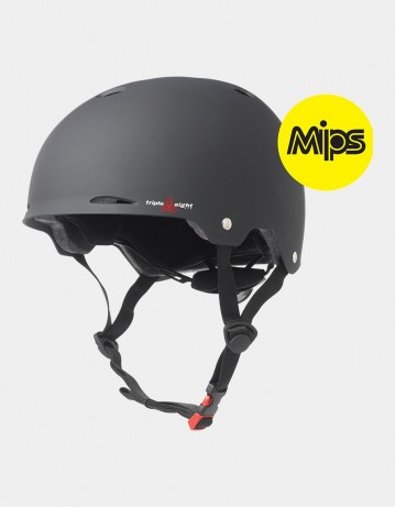 Triple Eight Gotham Helmet With Mips - Black Matte. - Product Photo 1