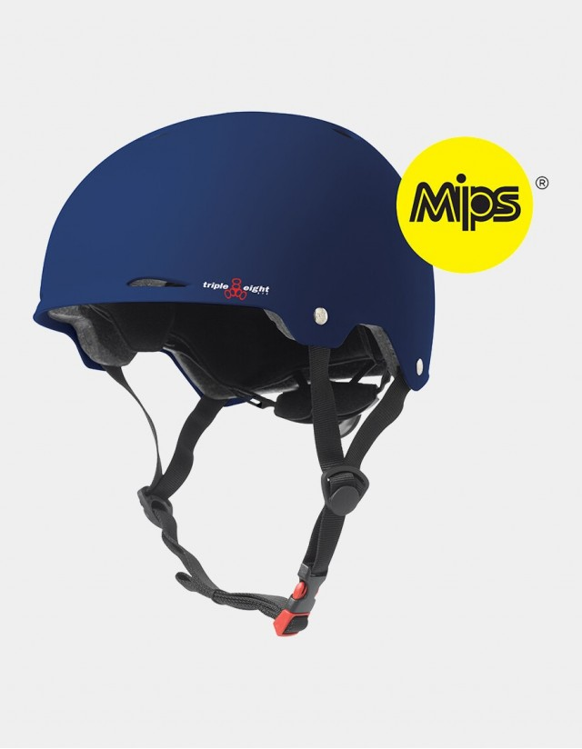 Triple Eight Gotham Helmet With Mips - Blue Matte. - Safety Helmet  - Cover Photo 3