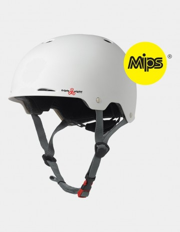 Triple Eight Gotham Helmet With Mips - White Matte. - Product Photo 1