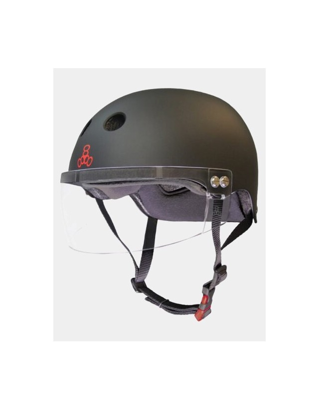 Triple Eight The Certified Sweatsaver Helmet With Visor. - Safety Helmet  - Cover Photo 3