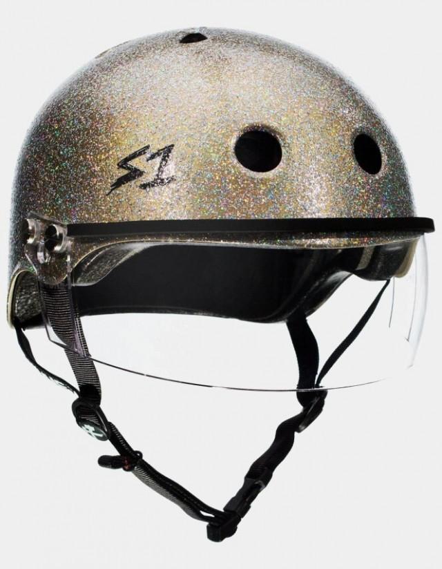 S-One Lifer Visor Gloss Glitter Helmet Gold. - Safety Helmet  - Cover Photo 3