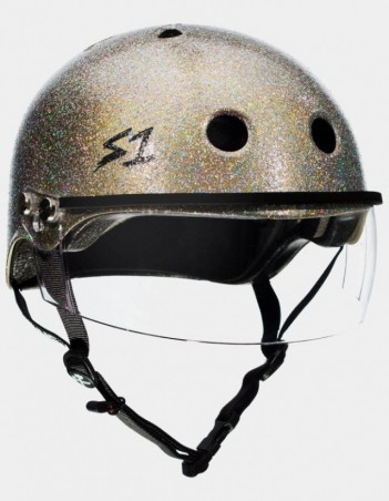 S-One Lifer Visor Gloss Glitter Helmet Gold. - Safety Helmet - Miniature Photo 3