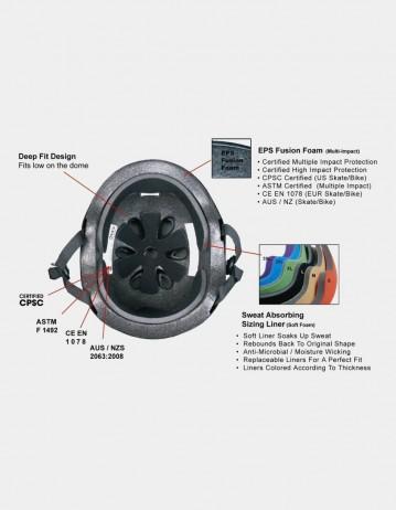 S-One Lifer Visor Gloss Glitter Helmet Silver. - Product Photo 2