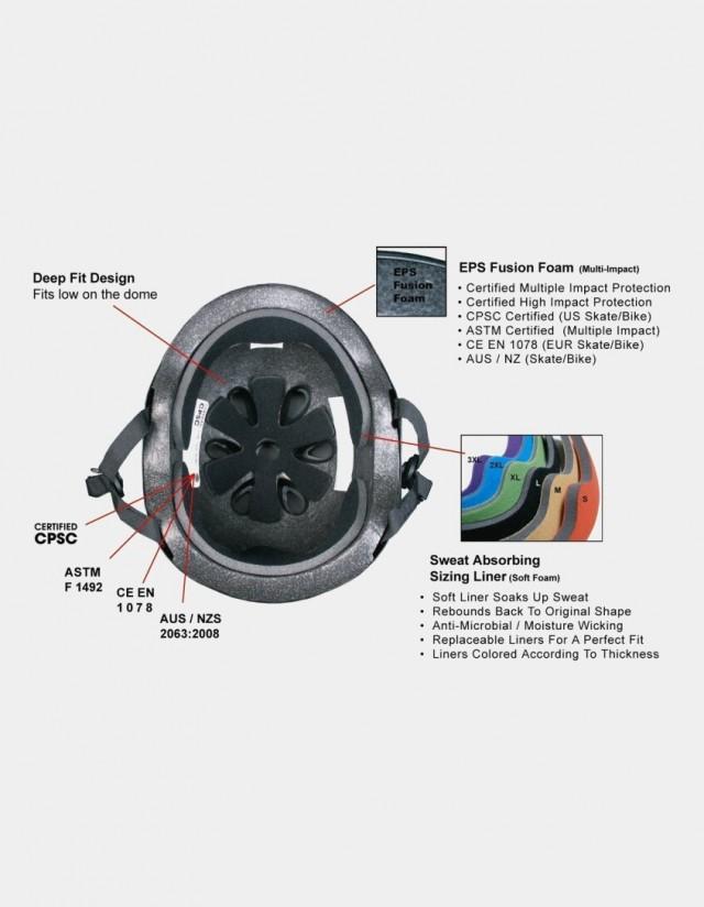 S-One Lifer Visor Gloss Glitter Helmet Silver. - Safety Helmet  - Cover Photo 2