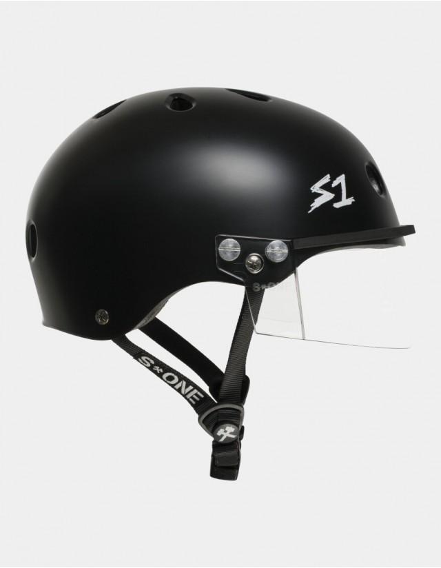 S-One Lifer Visor Helmet Black Matte. - Safety Helmet  - Cover Photo 1