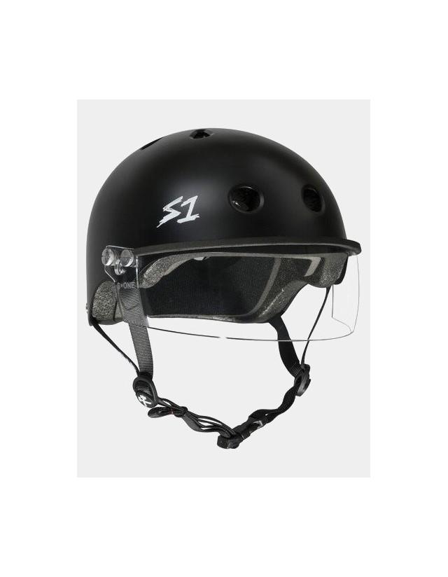 S-One Lifer Visor Helmet Black Matte. - Safety Helmet  - Cover Photo 3