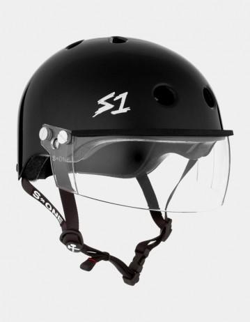 S-One Lifer Visor Helmet Black Glossy. - Product Photo 1