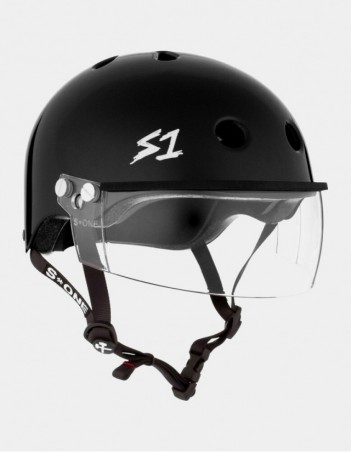 S-One Lifer Visor Helmet Black Glossy. - Safety Helmet - Miniature Photo 1