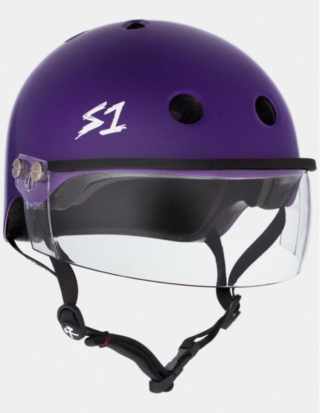 S-One Lifer Visor Helmet Purple Matte. - Safety Helmet  - Cover Photo 2