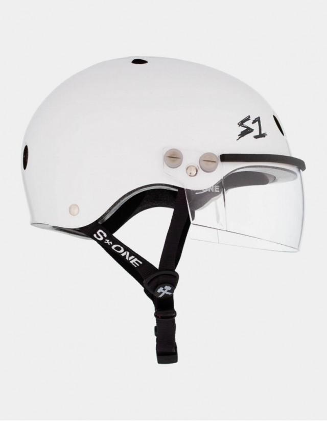 S-One Lifer Visor Helmet White Gloss. - Safety Helmet  - Cover Photo 1