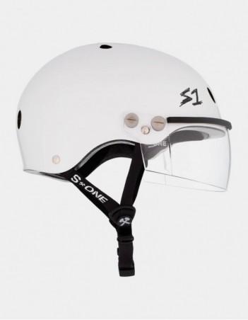 S-One Lifer Visor Helmet White Gloss. - Safety Helmet - Miniature Photo 1