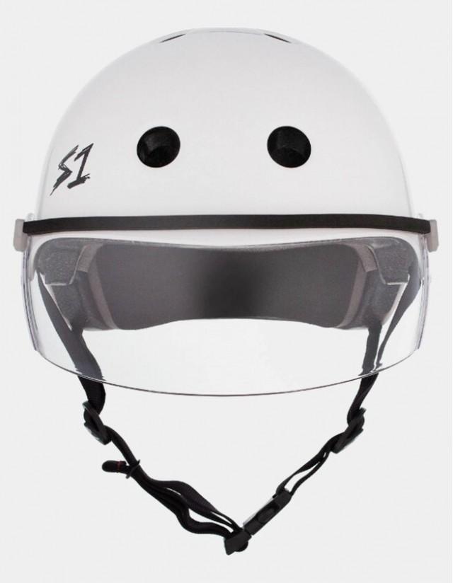 S-One Lifer Visor Helmet White Gloss. - Safety Helmet  - Cover Photo 2