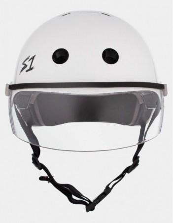 S-One Lifer Visor Helmet White Gloss. - Safety Helmet - Miniature Photo 2