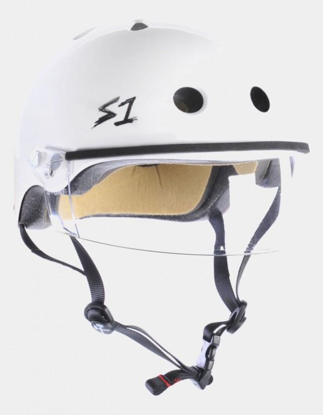 S-One Lifer Visor Helmet White Gloss. - Safety Helmet  - Cover Photo 3