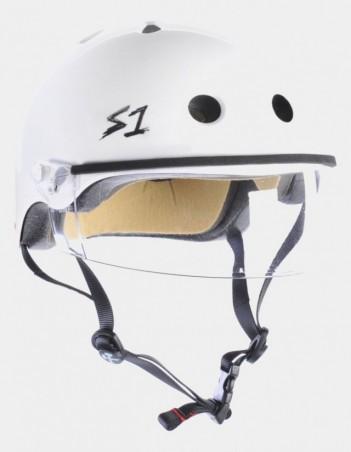 S-One Lifer Visor Helmet White Gloss. - Safety Helmet - Miniature Photo 3