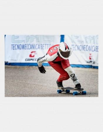 Triple Eight Racer Downhill Longboard Helmet Black. - Safety Helmet - Miniature Photo 1
