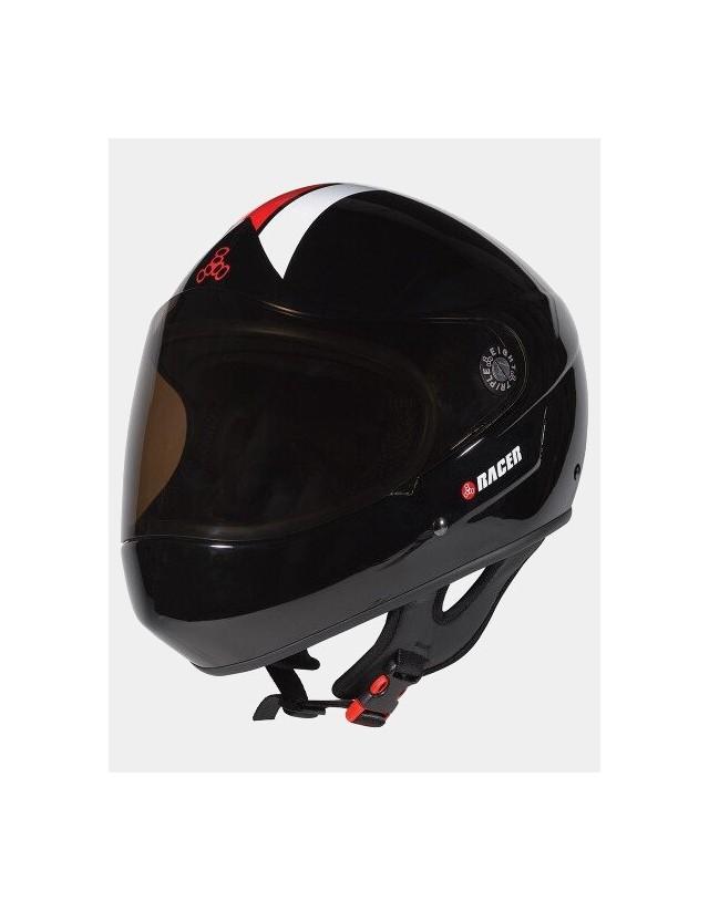 Triple Eight Racer Downhill Longboard Helmet Black. - Safety Helmet  - Cover Photo 3