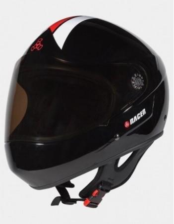 Triple Eight Racer Downhill Longboard Helmet Black. - Safety Helmet - Miniature Photo 3