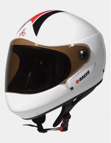 Triple Eight Racer Downhill Longboard Helmet White. - Product Photo 1