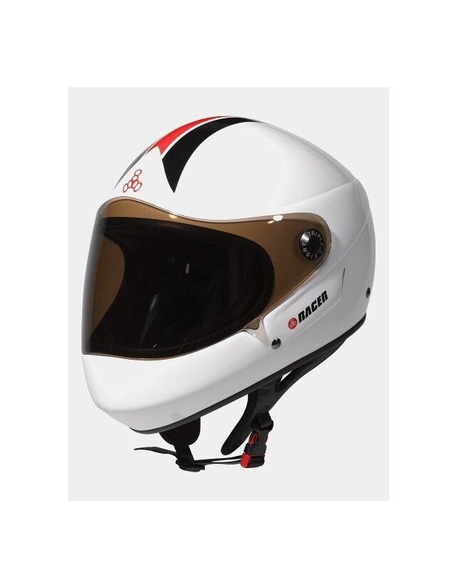 Triple Eight Racer Downhill Longboard Helmet White. - Safety Helmet  - Cover Photo 3