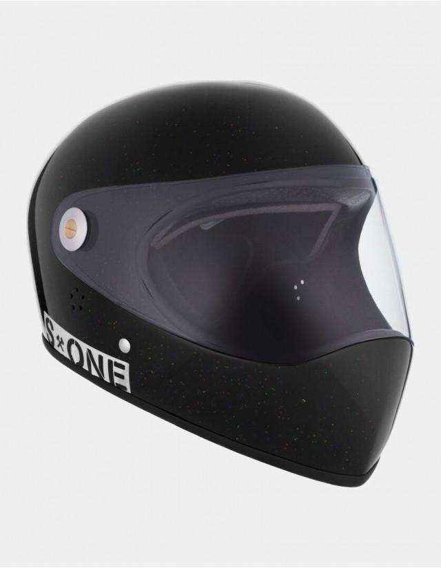 S-One Lifer Fullface Glitter Helmet Black. - Safety Helmet  - Cover Photo 2