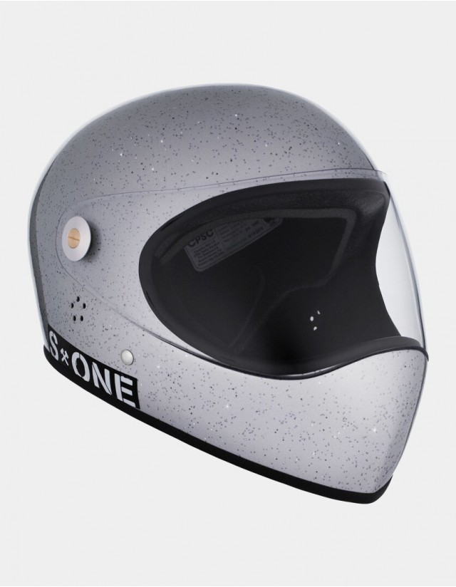 S-One Lifer Fullface Glitter Helmet Grey. - Safety Helmet  - Cover Photo 2