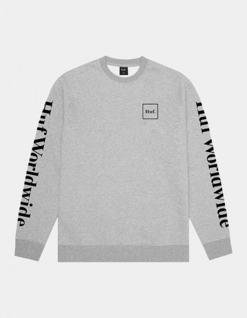 Huf Essentials Domestic Crew - Grey Heather - Product Photo 1