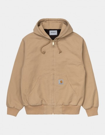 Carhartt Wip Active Jacket (Summer) Dusty H Brown Rinsed. - Product Photo 1