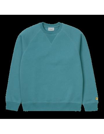 Carhartt Wip Chase Sweatshirt Hydro / Gold. - Product Photo 2