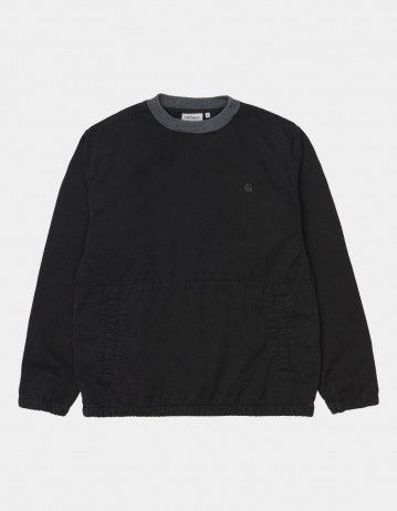 Carhartt Wip Carson Sweatshirt Black Stone Washed. - Product Photo 1