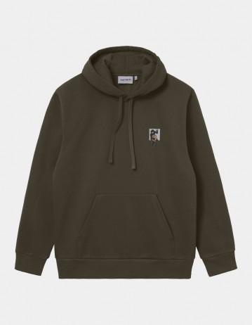 Carhartt Wip Hooded Teef Sweatshirt Cypress. - Product Photo 1