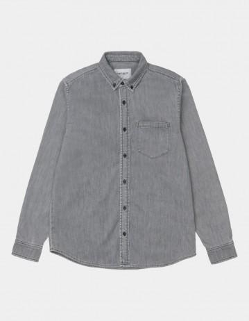 Carhartt Wip L/S Civil Shirt Black Bleached. - Product Photo 1