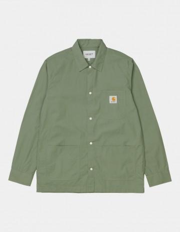 Carhartt Wip L/S Creek Shirt Dollar Green. - Product Photo 1