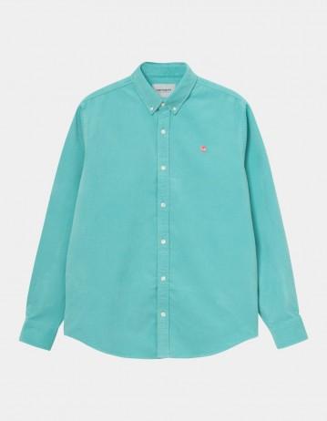 Carhartt Wip L/S Madison Cord Shirt Bondi / Shrimp. - Product Photo 1