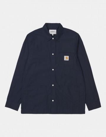 Carhartt Wip L/S Creek Shirt Dark Navy. - Product Photo 1