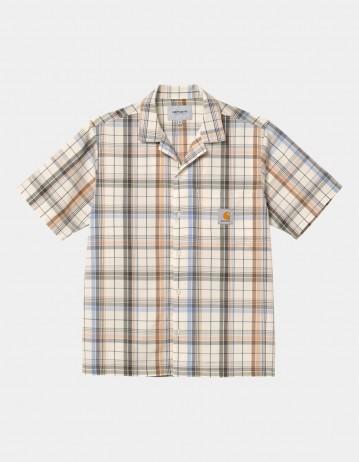 Carhartt Wip S/S Vilay Shirt Vilay Check, Natural. - Product Photo 1