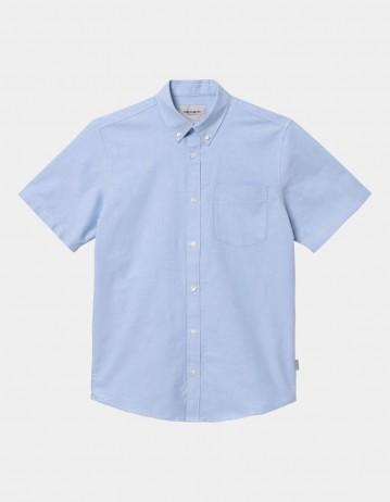 Carhartt Wip S/S Button Down Pocket Shirt Bleach. - Product Photo 1