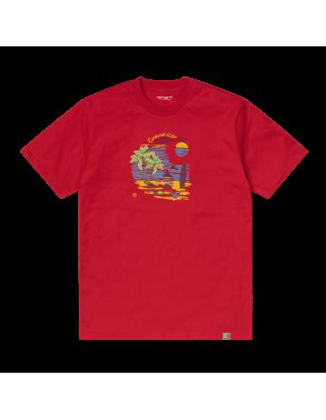 Carhartt Wip S/S Beach C T-Shirt Etna Red. - Product Photo 2
