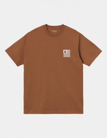 Carhartt Wip S/S Wavy State T-Shirt Rum / White. - Product Photo 1