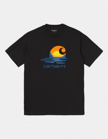 Carhartt Wip S/S Lagoon C T-Shirt Black. - Product Photo 1