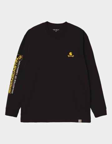 Carhartt Wip L/S Airwaves T-Shirt Black. - Product Photo 1