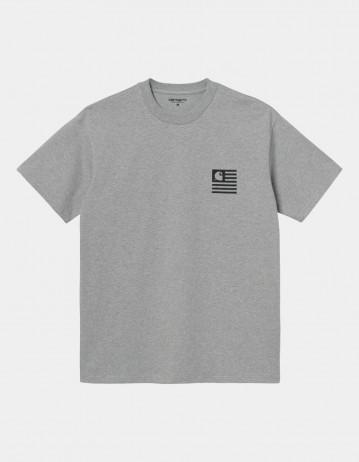 Carhartt Wip S/S Wavy State T-Shirt Grey Heather / Black. - Product Photo 1