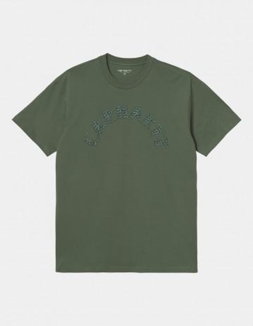 Carhartt Wip S/S Plant Script T-Shirt Dollar Green. - Product Photo 1