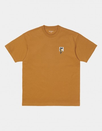 Carhartt Wip S/S Teef T-Shirt Hamilton Brown. - Product Photo 1