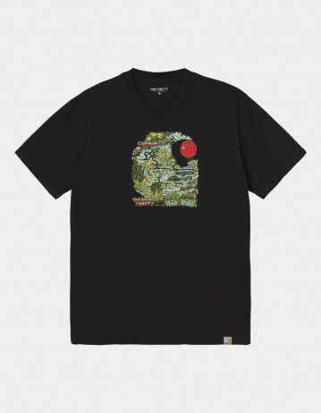 Carhartt Wip S/S Treasure C T-Shirt Black. - Product Photo 1