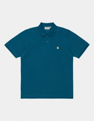 Carhartt Wip S/S Chase Pique Polo Corse / Gold. - Product Photo 1
