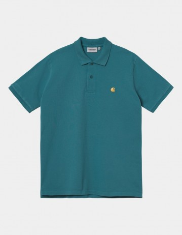 Carhartt Wip S/S Chase Pique Polo Hydro / Gold. - Product Photo 1