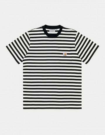 Carhartt Wip S/S Scotty Pocket T-Shirt Scotty Stripe, Black / White. - Product Photo 1