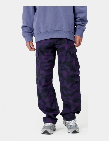 Carhartt Wip Regular Cargo Pant Camo Blur, Purple Rinsed. - Product Photo 1
